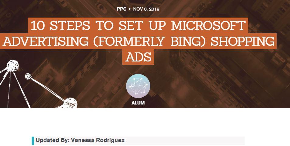 SEM: 10 pasos para programar Microsoft Shopping Ads