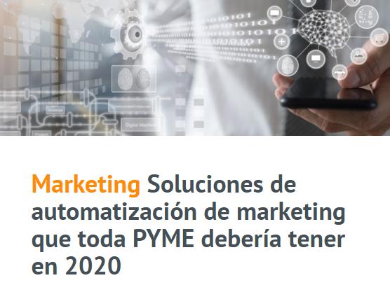 PYME: Soluciones de automatización de Marketing en 2020