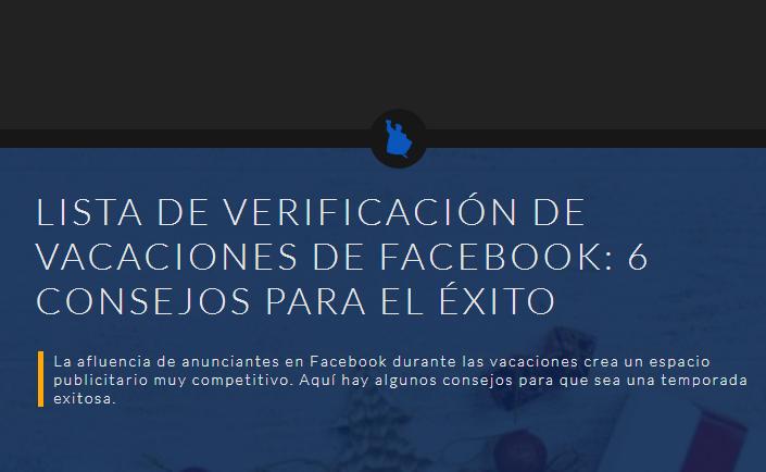 Facebook: Lista de verificación de Navidades y 6 consejos