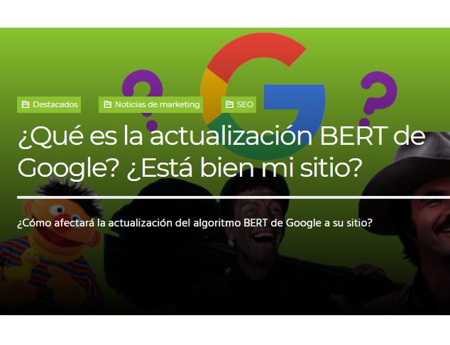 Google: ¿Qué es la actualización BERT de Google?
