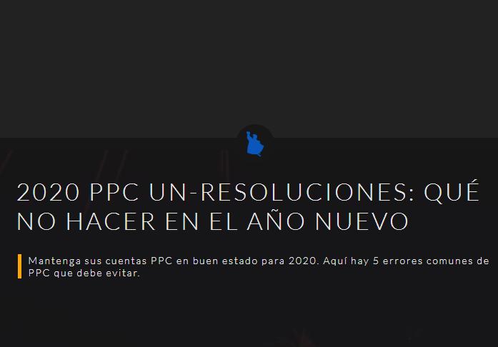 SEM: 2020 PPC No-Resoluciones. Qué no hacer en el Año Nuevo