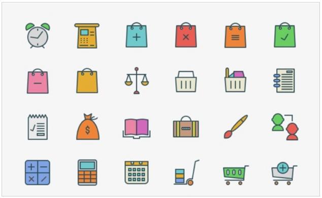 Diseño: 20 packs de iconos eCommerce gratuitos para navegación