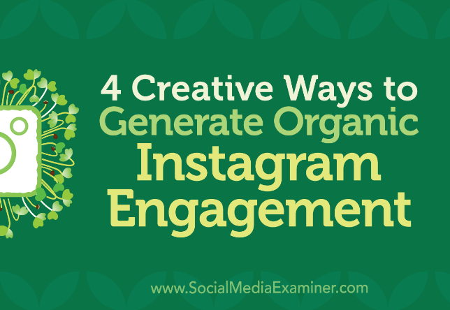 Instagram: 4 formas orgánicas y creativas de generar actividad