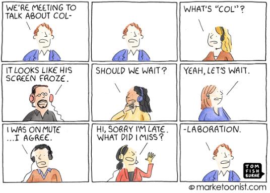 PYME: Dibujos animados de colaboración virtual