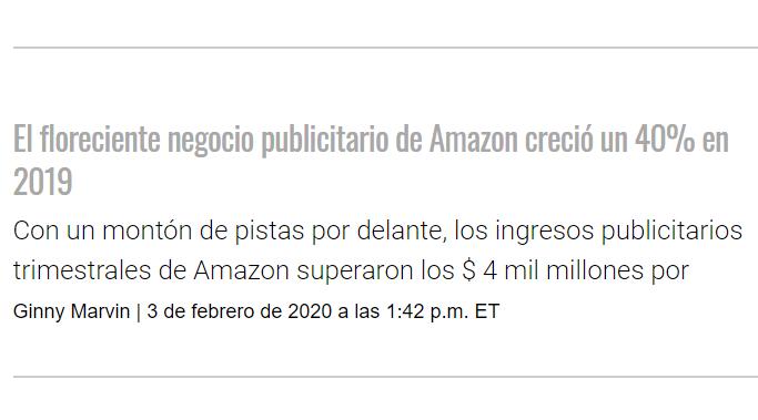 Amazon: El floreciente negocio publicitario creció un 40%