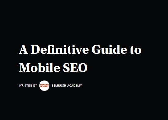 SEO: La guía definitiva para SEO en móvil