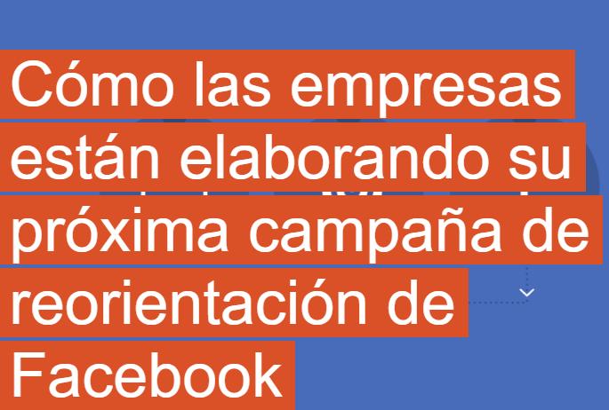 Facebook: Cómo elaborar su próxima campaña de Retargeting