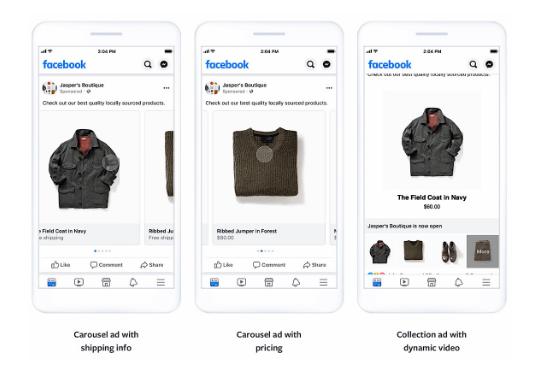 Facebook: Anuncios adaptables dinámicamente a cada usuario