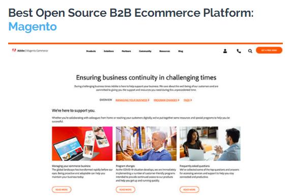 B2B: La mejor plataforma de eCommerce B2B para 2020