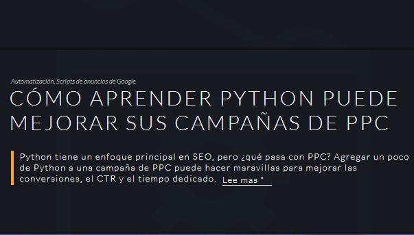 SEM: Cómo aprender Python puede mejorar tus campañas de PPC