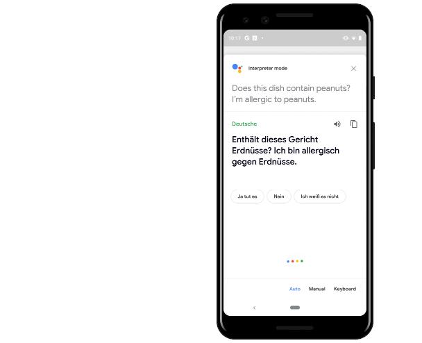 Google: Traducción en modo intérprete al Asistente en Moviles
