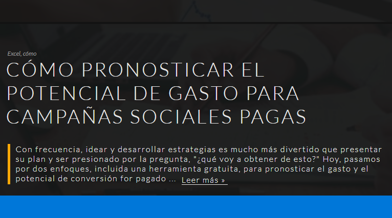 SEM: Pronosticar el gasto en campañas en Redes Sociales