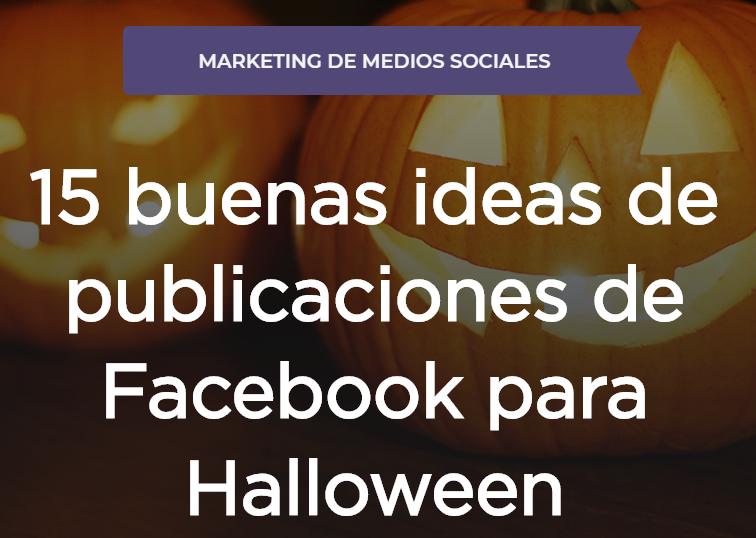 Facebook: 15 buenas ideas de Posts para Halloween