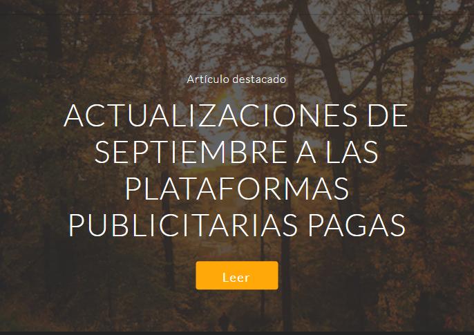 SEM: Actualizaciones de septiembre