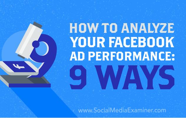 Facebook: Cómo analizar el rendimiento de tu Anuncio