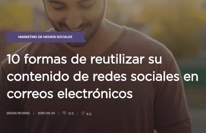 eMail Marketing: 10 formas de reutilizar tu contenido de Redes Sociales