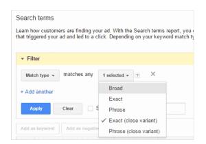 Google Ads amplía la coincidencia de variantes de palabras clave