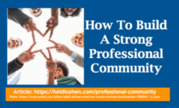 Cómo construir una comunidad profesional fuerte