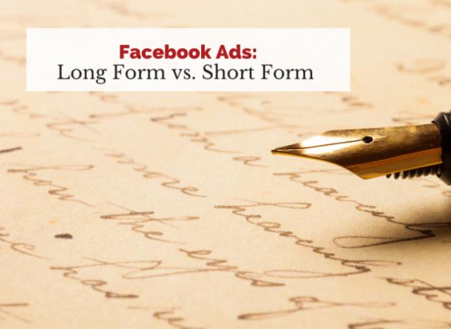 Facebook: ¿Anuncios formato largo o corto?