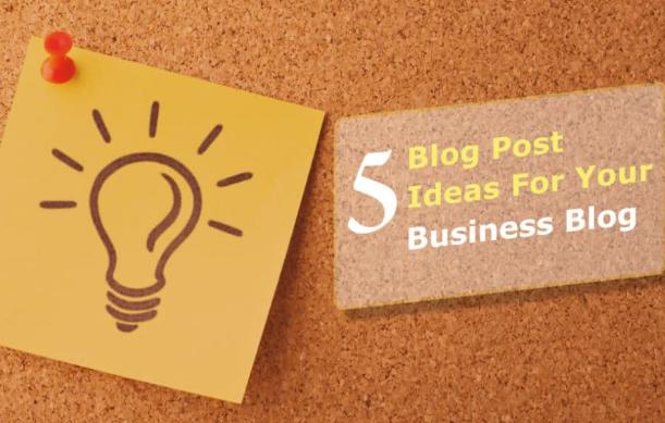 Contenido: 5 ideas sólidas para publicaciones de blog