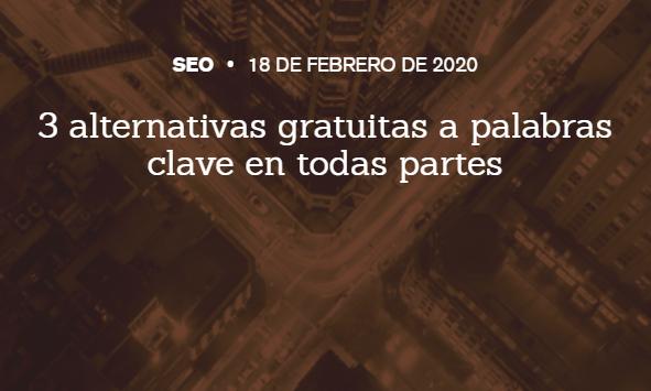 """SEO: 3 alternativas gratuitas a """"Keywords Everywhere"""""""