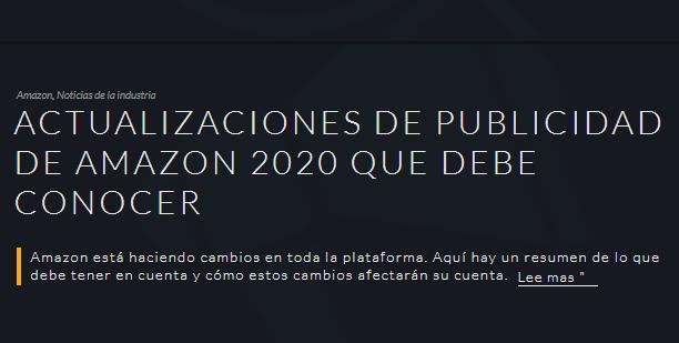 Amazon: Cambios en tu publicidad que debes saber para 2020