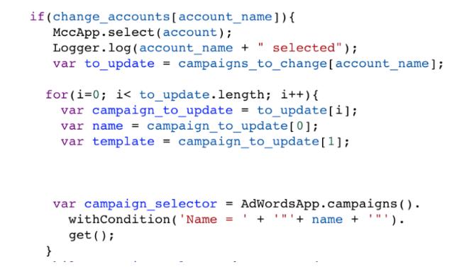 SEM: Secuencias de comandos de MCC para múltiples cuentas
