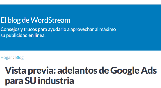 AdWords: Un Adelanto de ratios de Google Ads para tu sector