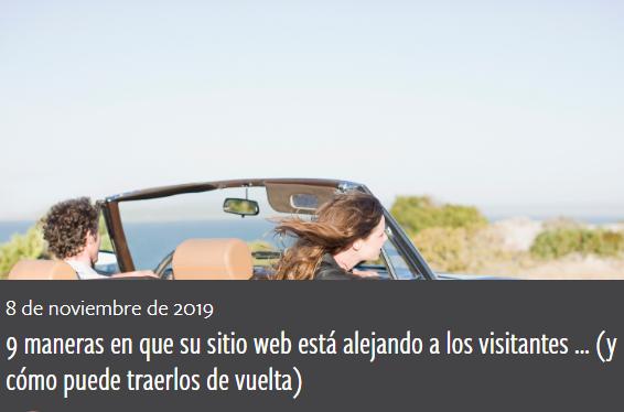 Diseño: 9 formas en que tu web echa a las visitas
