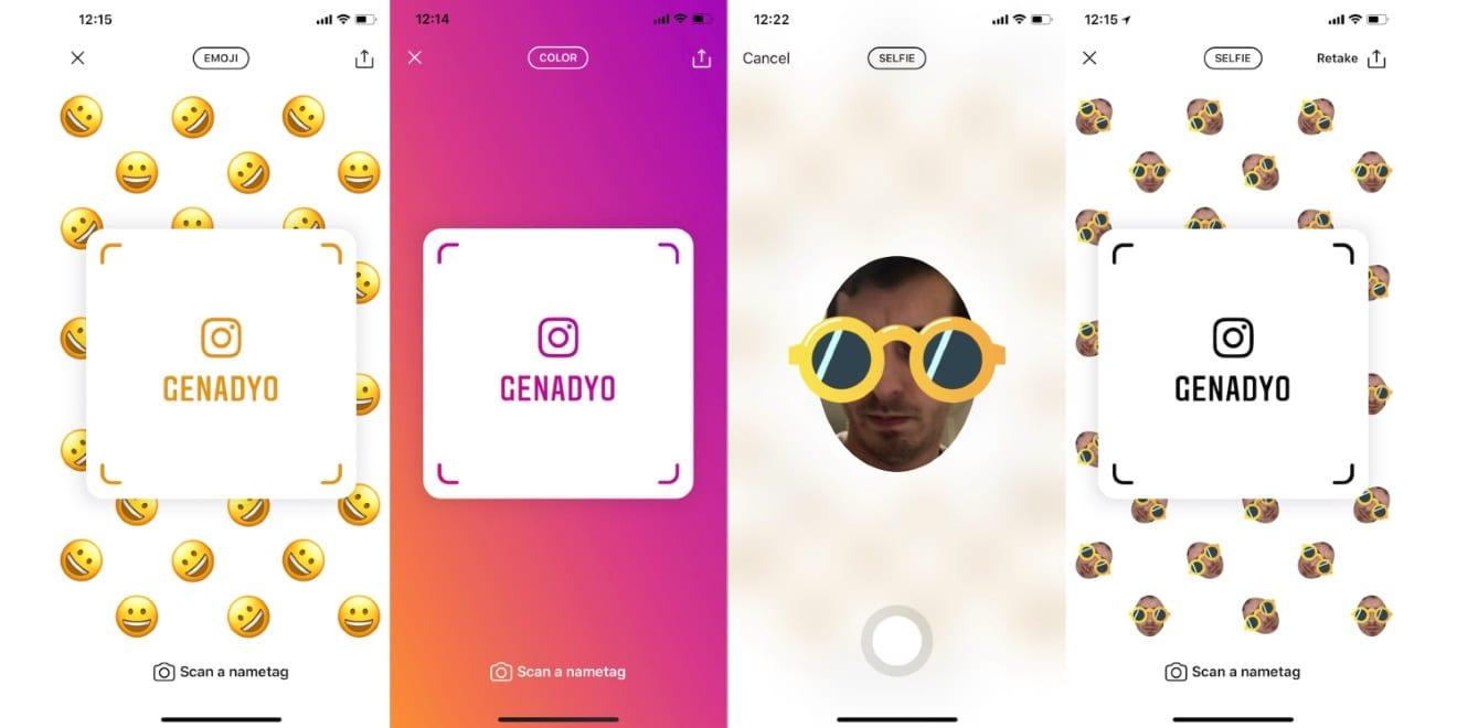 Instagram está probando Nametags, se basa en Snapchat