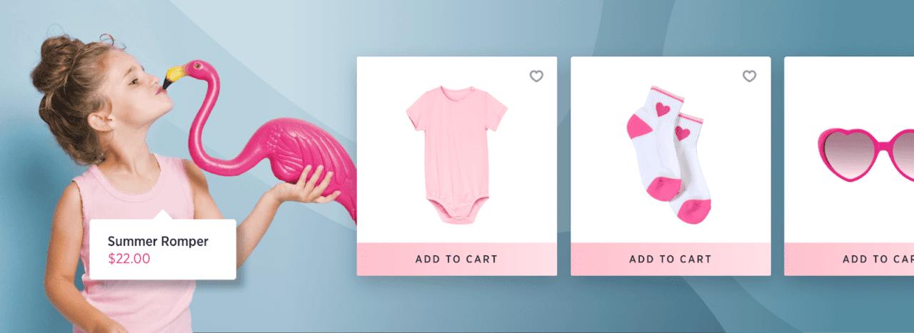 Mejores diseños ecommerce para bebés y niños