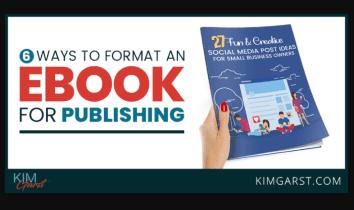 6 formas de formatear un libro electrónico para su publicación