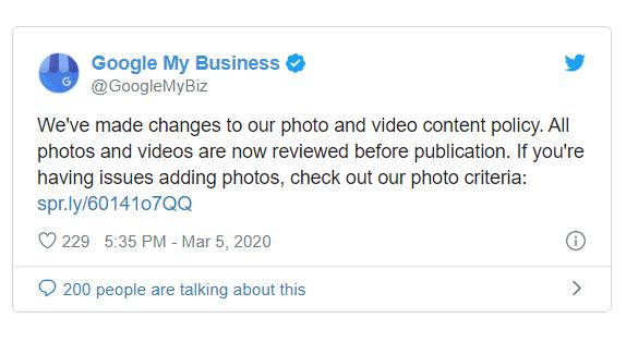 Google: Más estrictos con las pautas de imágenes GMB