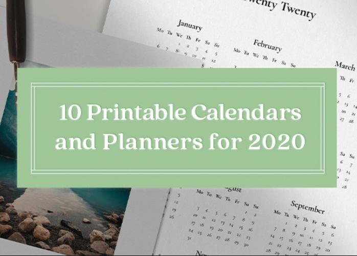 Diseño: 10 magníficas plantillas de calendario para 2020