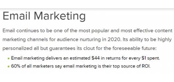 eMail Marketing: La principal fuente de ROI para el 60%