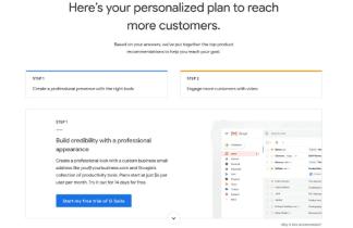 Google quiere facilitar a las PYMES empezar a usar sus productos