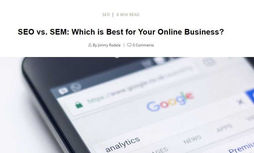 SEM: ¿SEM o SEO? ¿Cuál es mejor para tu Tienda Online?