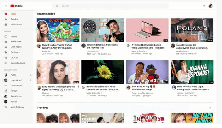 Google: YouTube lanza el rediseño de tu página Home